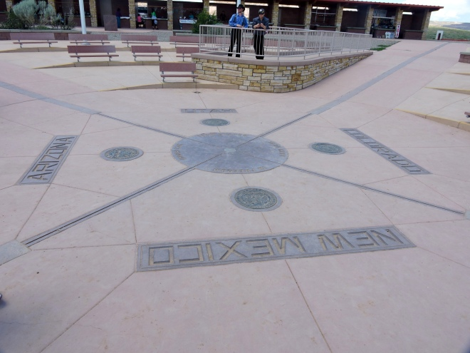 Four Corners Monument where Arizona, Utah, Colorado, and New Mexico meet