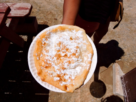 Navajo frybread at the Four Corners