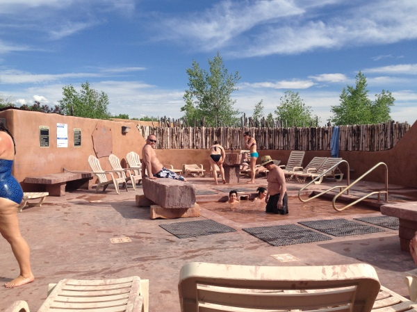 Mud bath at Ojo Caliente Spa