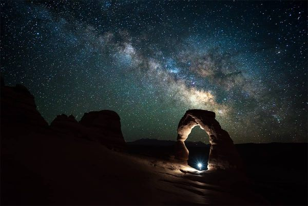 Milky Way over Delicate Arch at Arches National Park (photo credit: James Brandon)