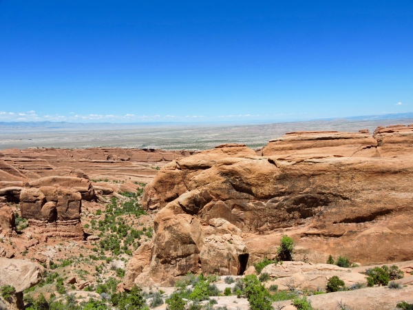 View from the trail to Double-O Arch, Arches National Park, Moab, UT.