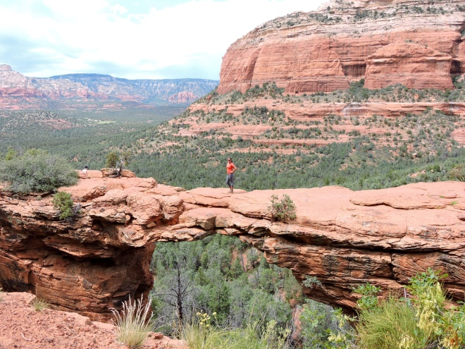 Making it across Devil's Bridge in Sedona, AZ.
