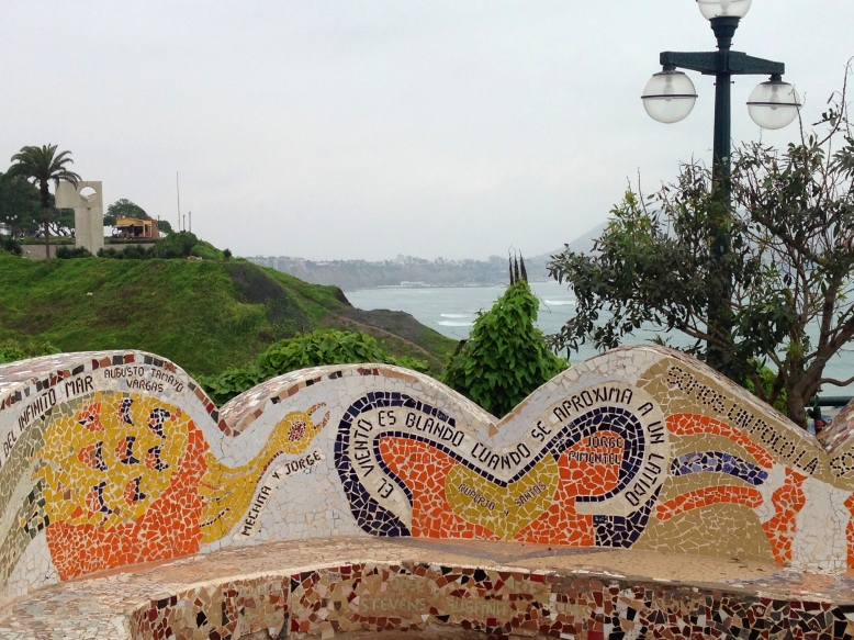 One of the quotes at El Parque del Amor in Lima