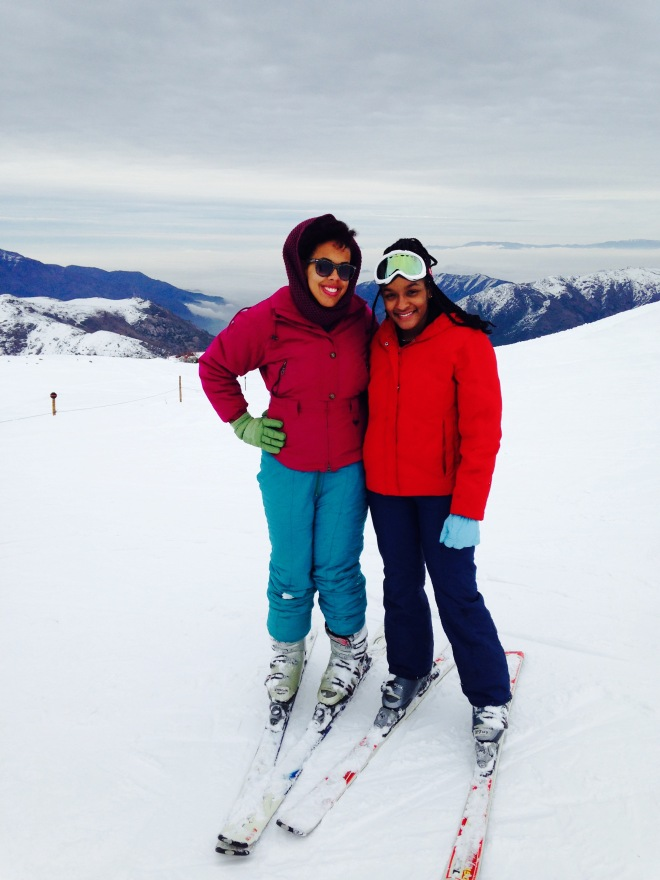 Me and the Bestie skiing on El Colorado in Chile