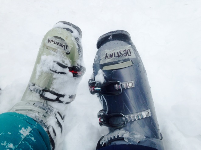 "Our ""personalized"" ski boots"